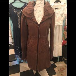 Prairie Underground brown hoodie coat